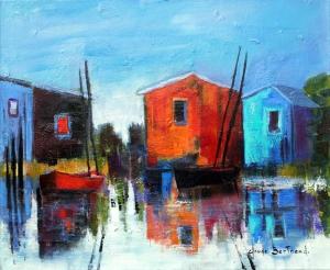 Cabanes de pêcheurs 46x38