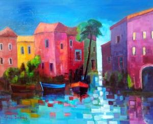 Ile de Burano (Venise) 92x73