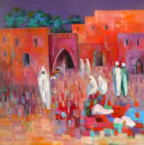 Souk Marocain 100x100