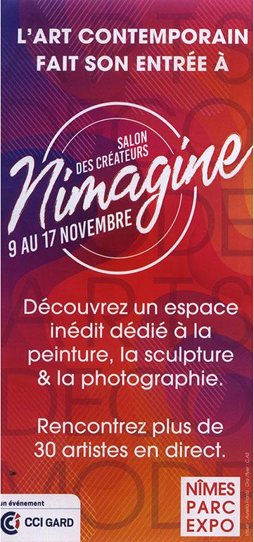 NIMAGINE ouverture  semaine de 12h à 19h— week-ends de 10h à 19h- Nocturne vendredi 15 novembre jusqu'à 22h